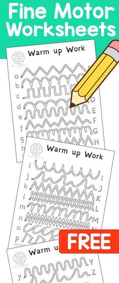 My Kids LOVE these! Free Pencil Control Worksheets! Perfect for Daily Warm-up Exercises. Includes lowercase & uppercase letters.