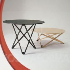 Subeybaja by Santa & Cole table adjusts vertically in 7 increments from 39 cm to 72 cm Natural or black finish oak--can be coffee table to dining table or things in between.