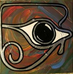 """""""HORUS EYE"""" -  Acrylic on Canvas, 30x30 cm (Available on demand in any format) - S O L D !"""
