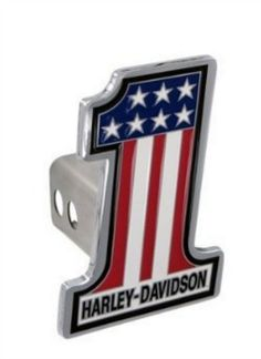 Harley Davidson Number 1 American Flag Trailer Tow Hitch Cover Plug Automotive