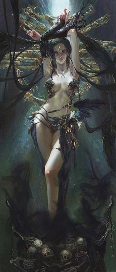 sekigan: Dark Goddess | color | Pinterest