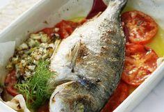 Fırında çipura tarifi - rezene ve domatesli