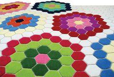 Tsar Geometric's Betsy carpet that resembles hex tile. SO cool.
