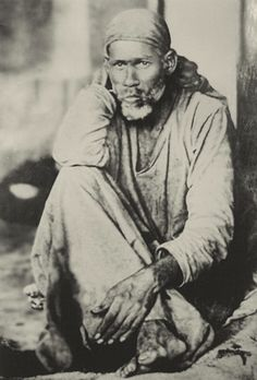 """Shirdi Sai Baba // Shirdi Baba's life demonstrated the unity of all religions. No one knew what religion he was. He was revered by Hindus, Muslims and Christians alike. He said, """"All human beings are one. Our religion is humanity. God is One."""""""
