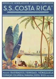 In this post, I curate over 100 vintage travel posters of Latin America — organized by country — with prints dating from the early to the Ladies and gentlemen, you won't want to miss this one! Vintage Art Prints, Poster Vintage, Vintage Travel Posters, Costa Rica, San Gil, Puntarenas, Magic City, Pacific Coast Highway, Riviera Maya