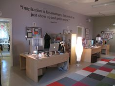 Our main coworking space where our creatives hang.