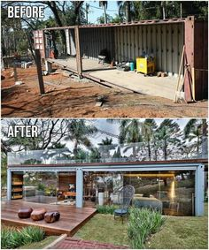 Building A Container Home, Container Cabin, Container Buildings, Container Architecture, Container House Plans, Glass House Design, Modern Small House Design, House Front Design, Architecture Cool