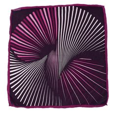 ff0a6745 Vintage 100% SILK women scarf bandana violet puple hand rolled Op Art  Optical Illusion