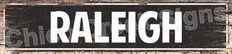 RALEIGH Street Plate Sign   Chic Decor 4180071