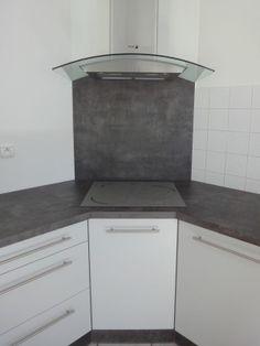 Croquis de la cuisson en angle dans une cuisine cuisine - Cuisine avec plaque de cuisson en angle ...