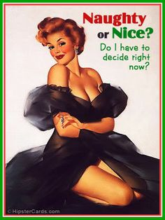 retro pin up posters | Vintage Christmas Pin-up Girl Posters | Sad Man's Tongue Rockabilly ...