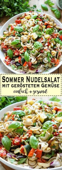 Pasta salad with roasted vegetables - A simple recipe for a perfect summer past. - Pasta salad with roasted vegetables – A simple recipe for a perfect summer pasta salad for grill - Roasted Vegetables, Veggies, Feta, Summer Pasta Salad, Summer Salads, Pasta Salad Recipes, Grilling Recipes, Vegetable Recipes, Vegetable Salad