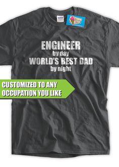 19b20467 Worlds Best Dad TShirt Mens CUSTOM JOB Funny Geek by IceCreamTees, $14.99  Funny Geek,