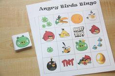 Free Printable Angry Bird Cards | Bingo. I made these myself - you can download them here .