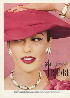 March Vogue 1956  Mary Jane Russell for Trifari