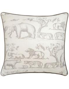 Cushions: Collection Cushions, product Jungle Grey Cushion - Andrew Martin. Cojín tapizado en tela Jungle Grey