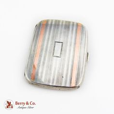 Cigar Cases, Smoking Accessories, Cigarette Case, Makers Mark, Antique Silver, Art Deco, Sterling Silver, Antiques, Gold