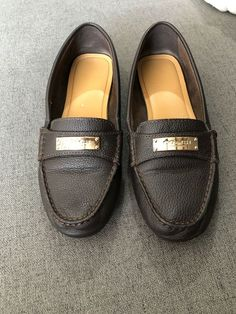8f7aa7fecb0 Coach Fredrica Tan Leather Penny Loafer Shoes Size 6B  fashion  clothing   shoes