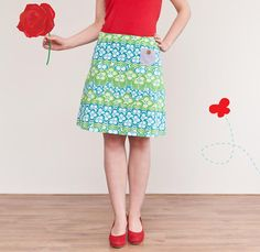 Retro flower skirt