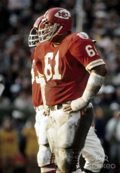 Kansas City Chiefs defensive tackle Curley Culp (61) waits for the play against the Minnesota Vikings during Super Bowl IV at Tulane Stadium...