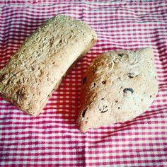 Yummy herb bread and raisin and cinnamon bread, made by yours truly! Herb Bread, Cinnamon Bread, Raisin, Herbs, Homemade, Baking, Food, Patisserie, Bakken