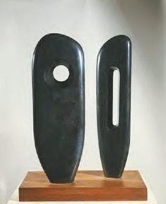 Two Figures (Menhirs), Barbara Hepworth,1964, Tate Museum, St. Ives.