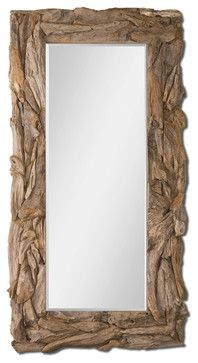 Natural Teak Root Mirror Traditional Mirrors Western Mirror, Natural  Mirrors, Driftwood Mirror, Diy
