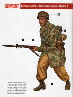 2 BR Ar Osprey British Paratrooper v Fallschirmjager Med 1942 43 Luftwaffe, Paratrooper, Ww2 Uniforms, German Uniforms, Military Art, Military History, Ww2 Facts, German Helmet, Modern Warfare