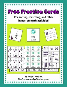 Classroom Freebies Too: Printable fraction cards