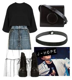 """""""J-Hope"""" by flaviaazevedo2000 ❤ liked on Polyvore featuring Puma, Steve Madden, Topshop, UNIF and Lemaire"""