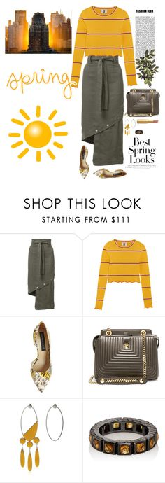 """""""Cold Spring Day"""" by musicfriend1 ❤ liked on Polyvore featuring H&M, Robert Rodriguez, Topshop Unique, Steve Madden, Fendi, Sylvio Giardina, Nak Armstrong, Too Faced Cosmetics and Sony"""