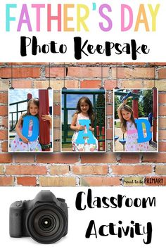Looking for the perfect Father's Day idea you can do with children in school? Teachers, check out this DIY Father's Day photo keepsake classroom activity to find out how you can turn photos and a few simple art materials in a special memory keepsake for dad. #fathersday #fathersdayactivities #fathersdaygift #fathersdaykeepsake