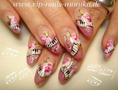 Music and Roses by vipnailsmonika from Nail Art Gallery