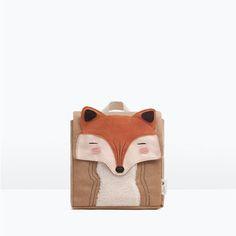 Image 1 of Fox detail backpack from Zara Zara Mode, Nursery Bag, Animal Bag, Kids Inspire, Sewing Kids Clothes, Back Bag, Baskets En Cuir, Zara Baby, Kids Sunglasses