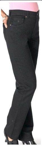 Gloria Vanderbilt Women's Amanda Straight Leg Jean, Black, 14 Long
