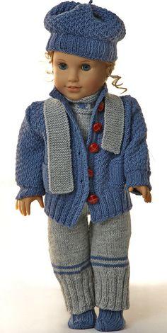 puppenjacke stricken - kollektion Sophia - Anzug, Jacke, Mütze, Socken und Schal