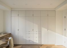 Archive Dive: Our 11 Favorite Built-in Storage Cabinets, Minimalist Edition Fitted Bedroom Furniture, Fitted Bedrooms, Wardrobe Furniture, Bedroom Closet Design, Closet Designs, Bedroom Storage, Wardrobe Design, Wall Storage, Built In Cupboards