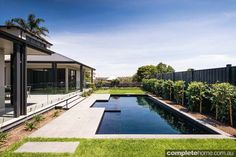 contemporary outdoor pool