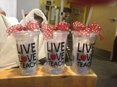 Teachers Live Love Teach Teacher's Appreciation by NylasGiftShoppe, $12.00