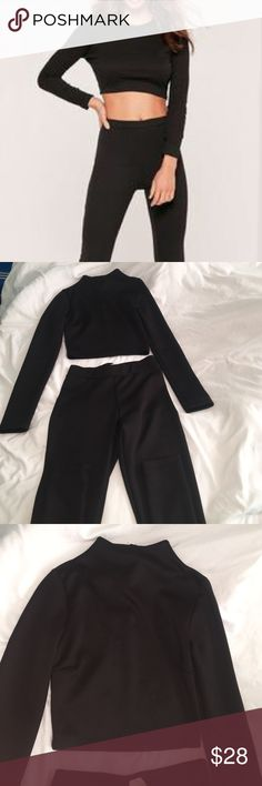 Co-Ore set black body set Two piece Pants Jumpsuits & Rompers