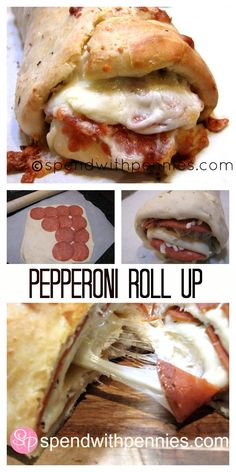 Pepperoni Roll Up!  This is easy to make and so delicious!