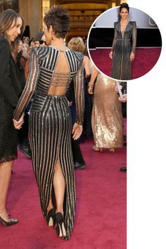 Halle Berry in Atelier Versace at the 2013 Academy Awards