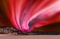 Aurora Borealis ,red colors.