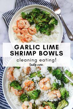 Quick Rice Recipes, Shrimp And Rice Recipes, White Rice Recipes, Shrimp Recipes For Dinner, Tasty White Rice Recipe, Shrimp Rice Bowl Recipe, Healthy White Rice, Chicken Recipes, Healthy Broccoli Recipes