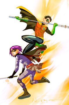 Hitgirl and Robin by Eric Nguyen