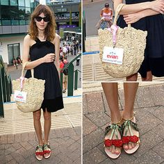Chung being very awesome with the Cherry Shoes Alexa Chung, Straw Bag, Addiction, Cherry, Sad, Normcore, Awesome, Clothing, How To Wear