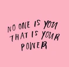 Know your power!