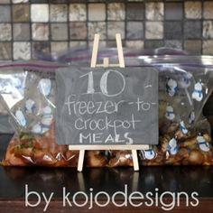 5 Crockpot Freezer Meals