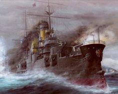 Photo Borodino/ Battle of Tsushima Ships Painting Art military Military Art, Military History, Military Diorama, Man Of War, Naval History, Nautical Art, Armada, Navy Ships, Harbin