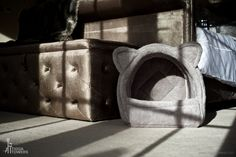 The new luxury Cave Cat Bed is made from an exclusive non-looped super soft fabric making it a great cosy cat bed to lay in.